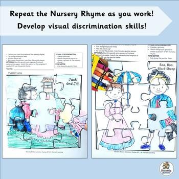 Nursery Rhyme Activities: Puzzles Set 1 (SASSOON)