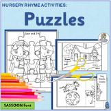 Nursery Rhymes Puzzles  Set 1 | SASSOON Font