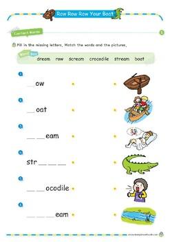 Nursery Rhyme Activities : Row Row Row Your Boat *Printables