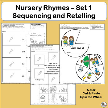 Nursery Rhymes Activities: Sequencing and Retelling