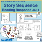 Nursery Rhymes Activities for 4 Rhymes -  Sequencing and Retelling