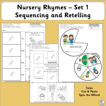 Nursery Rhymes Activities: Sequencing and Retelling (SASSOON)