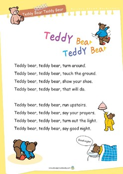Nursery Rhyme Activities : Teddy Bear Teddy Bear *Printables