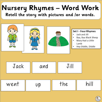 Nursery Rhymes Sight Word Work Complements Jolly Phonics