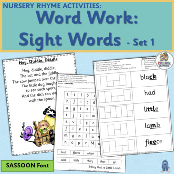 Nursery Rhyme Activities: Word Work - Set 1 (SASSOON)