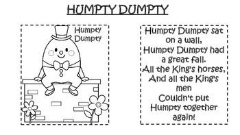 Nursery Rhyme Activity: Humpty Dumpty