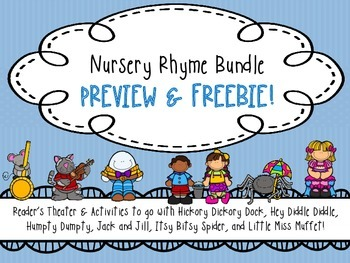 Nursery Rhyme Activity Pack & Reader's Theater PREVIEW/FREEBIE