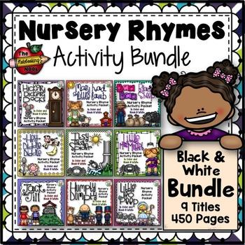 Nursery Rhyme Activities - Black & White Bundle