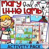 Nursery Rhyme Activity for Mary Had a Little Lamb