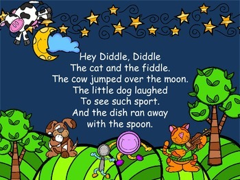 Nursery Rhyme Adapted Book: Hey Diddle, Diddle