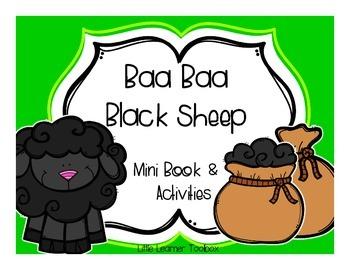 Nursery Rhyme: Baa Baa Black Sheep Mini books and activities