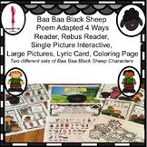 Nursery Rhyme Baa Baa Black Sheep, Interactive, Reader, Rebus,