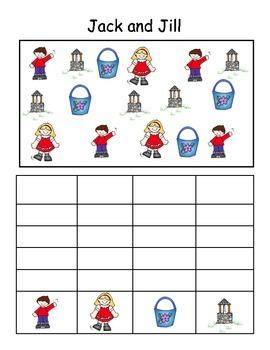 Nursery Rhyme Bar Graphing Set