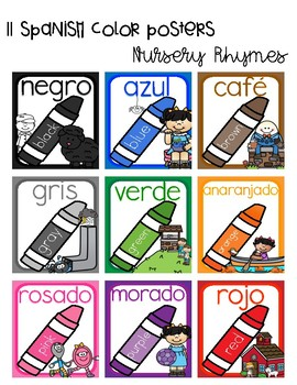 Nursery Rhyme Bilingual Color Posters