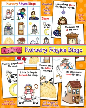 Nursery Rhyme Bingo Activity Download