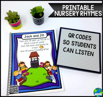 Nursery Rhyme Book/posters with QR code options