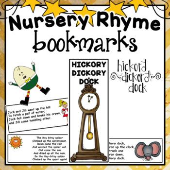 Nursery Rhyme Bookmarks