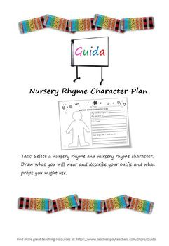 Nursery Rhyme Character Plan