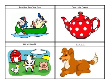 Nursery Rhyme Choice Cards