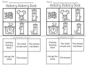Nursery Rhyme Close Reading- Hickory Dickory Dock