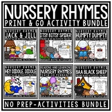 Nursery Rhyme Activities Bundle- Nursery Rhyme Printables [Humpty Dumpty & More]