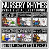 Nursery Rhyme Activities: Humpty Dumpty, Jack & Jill, Nursery Rhyme Printables