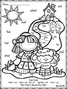 Nursery Rhyme Color by the Code (Literacy Skills Edition)