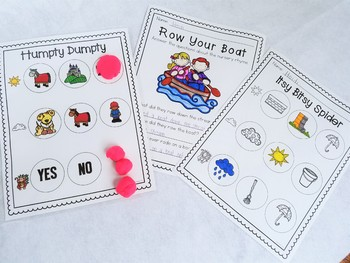 Nursery Rhyme Comprehension Mats & Activity Sheets