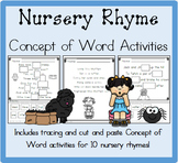 Nursery Rhyme Concept of Word Activities