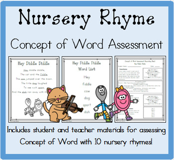 Nursery Rhyme Concept of Word Assessment