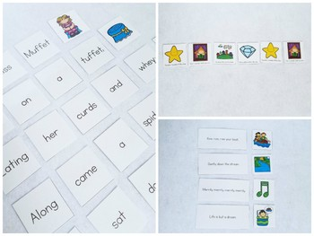 Nursery Rhyme Concepts of Print Pocket Chart Activities