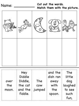 Nursery Rhyme Differentiated Literacy Activities Bundle! [no prep]