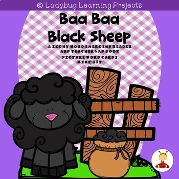 Baa Baa Black Sheep Nursery Rhyme Emergent Reader