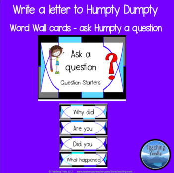 Nursery Rhyme FREE: Read Humpty Dumpty and Write a Letter to Humpty