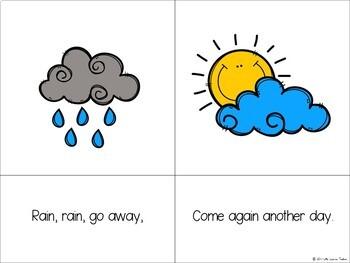 Nursery Rhyme FREEBIE - Rain Rain Go Away
