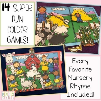 Nursery Rhyme File Folders Bundle - 3 Sets - Retelling Favorite Poems