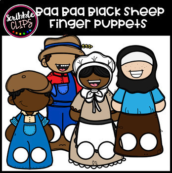 Nursery Rhyme Finger Puppets Clipart (scribble clips)