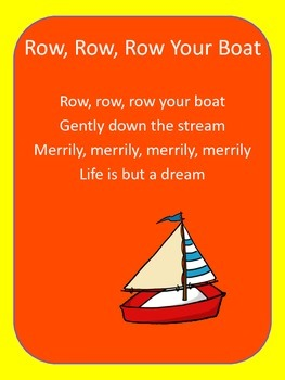Nursery Rhyme Flash Card Sample