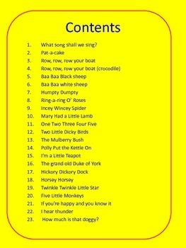 Nursery Rhyme Flash Cards Full Document