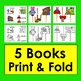 Nursery Rhyme Foldable Books (Set 3)  5 Books + Puppets and Props for Retelling