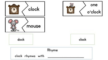 Nursery Rhyme - Hickory Dickory Dock with Plans and Activities