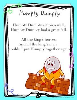 "Nursery Rhyme "" Humpty Dumpty """