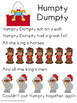 Nursery Rhyme Humpty Dumpty Activities