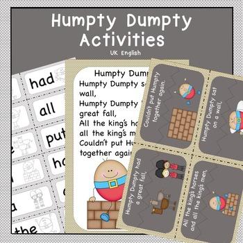 Humpty Dumpty Nursery Rhyme Pack AUS UK