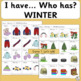 I Have, Who Has Games with Winter Pictures | SASSOON Font