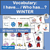 Vocabulary Activities: I have… /Who has…? WINTER