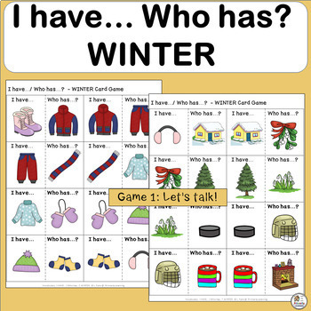 I Have, Who Has Games  WINTER