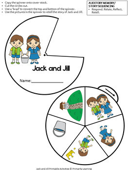 Jack & Jill Printable Activities BUNDLE complements programs like Jolly Phonics