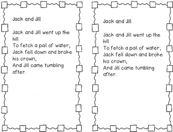Nursery Rhyme Journal Pages