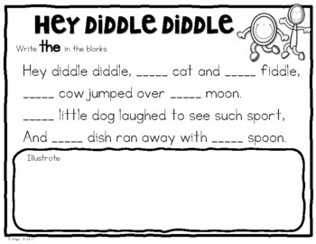 Nursery Rhyme Journal for K-1--Fun Response Pages for 13 Popular Rhymes